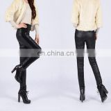 Women's girls warm casual fashion down pants Trousers