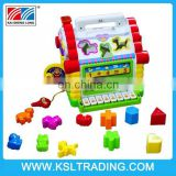 Nice quality education Multifunctional kids interlocking building block house with light and music