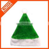 High quality plush green santa hat for sale