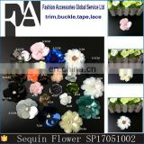 Fancy Handmade Sequin Bead Flower Patches for Garment Decoration