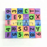 EVA Foam Colorful Montessori Teaching Tool Alphabet Blocks with Letters & Numbers & Learning Pictures for Toddler, Preschool