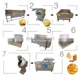 Stainless steel hot sale spiral potato chips machine/potato chips processing machine