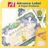 baby birth souvenirs printing paper certificate