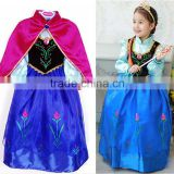 Princess Anna Costume Frozen Fancy Dress Elsa Cosplay Dress Girl Dresses                                                                         Quality Choice