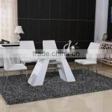 modern wooden table and leather chair dining set                                                                         Quality Choice