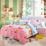 Funny kids cartoons cotton reactive printed customized printing on bedding set China twin bed sheet sets