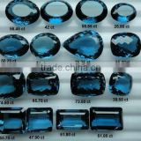 London Blue topaz cabochon Loose Calibrated Briolettes Faceted cut