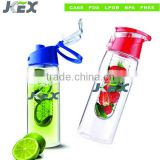 LFGB,FDA 700ML Plastic tritan fruit water bottle infuser                                                                         Quality Choice