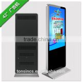 42 Inch floor standing with High HD Touch Screen Lcd Digital Signage, Advertising Display Screen