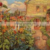handamde canvas oil painting Factory price abstract village beautiful sunflower oil painting Wall Decoration home decor