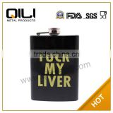 FDA 8oz stainless steel china novelty best selling crafts new gifts cheap personalized hip flasks