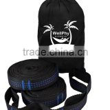 Camping Hammock Tree Straps Heavy Duty Extra Long, Ultralight, & Adjustable Loops. No-Stretch Polyester