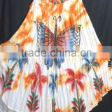 New fashionable neck design pattern tie & dye printed fashion umbrella print dress in indian wholesale