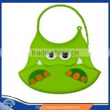 2014 Latest Design eco-friendly baby silicone bibs wholesale with different animal printing