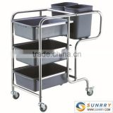 Good Quality Food Service Trolley Prices Round Hotel Laundry And Cleaning Equipment