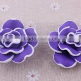 2014 Halloweenall kinds of beads!! Clay flower beads in bulk !loose rose flower clay beads for DIY fashion jewelrys!! Cheapest!!