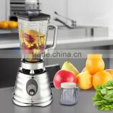 High Efficient Silver Chrome Body 2 In 1 Glass Jar Ice Blender                                                                         Quality Choice