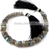 1 Strand Natural Blue Flash Fire Labradorite Faceted Rondelle 6-9mm Drilled Beads,Beautiful Jewelry,Bracelet Making