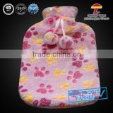 cute claw footprint coral fleece hot sell animal cover with balls