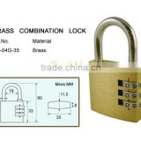 Brass Combination Padlock / safe combination lock CB-04G-35