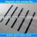 Coated overlay film with black color hico magnetic stripe for pvc id plastic card laminating