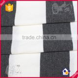 25% rayon 75% polyeater 5% spandex stripe hoodies sweater cheap bulk fabric in stocks