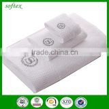 100% cotton luxury 3pcs sets White high quality 5 star hotel bath towels