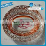 Collectable accessory Beijing landmark souvenir glass ashtray customized vivid bird nest ashtray