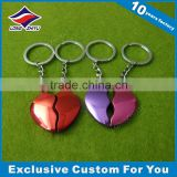 Half Heart Couple Keychain Custom Keychain Metal Keyholder in Different Color