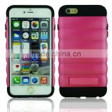 Cool fashionable new dual layers armor shell for iPhone 6 scrath resistant good grip mobile case