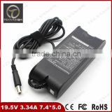 Good Quality Laptop Charger AC Adapter 65W 19.5V 3.34A 65W 7.4*5.0 mm For Dell Inspiron 300M 500M 505M 510M 600M