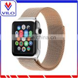 Mesh Replacement Strap Stainless Steel Milanese Loop Band Magnetic Buckle Wrist Band for Apple Watch 38mm 42mm All Models