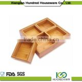 Wholesale hot selling Bamboo Chip & Dip Tray set
