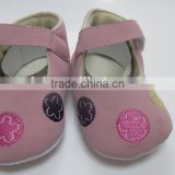 Applique embroidery flower baby shoes comfortable baby maryjane prewalker