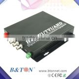 1080P/720P 2chs HD-TVI video to Ethernet fiber optical converter, 20km on SMF, single fiber 1310nm, 1550nm