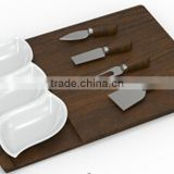 Unique wooden cutting board cheese knife set                                                                         Quality Choice