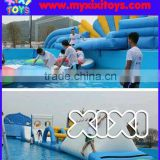 Ground pool inflatable water obstacle park, inflatable water sport on pool                                                                         Quality Choice