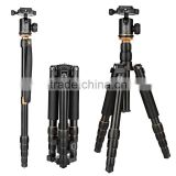 Professional 12'' folded portable dslr digital camera tripod monopod aluminum camera tripod dolly with panoramic ball head                                                                         Quality Choice