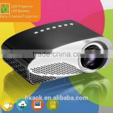 New!! wholesale Mini Portable LED Digital Projector Portable Home Theater LED LCD Projector White Digital Projector TV USB VGA