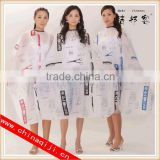 wholesale hairdresscape adult pvc rain cape