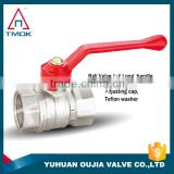 TMOK ISO CE brass ball valve screwed end PTFE seats with lever iron handle sanitary water ball valve