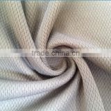 100% polyester weft knitting bird eye fabric quick dry function bird eyelet sport wear fabric
