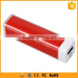 nature Color lipstick tube battery charger portable power bank 1800mah 2200mah 2600mah 3000mah for smartphone