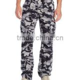 Baggy Camouflage 100% polyester match cargo pants for men