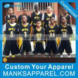 Hot Sell Authentic Black Basketball Team Uniform Jersey