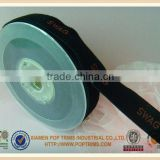 Hot sale black nylon velvet ribbon with custom logo