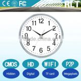high definition digital video camera support TF card memory CMOS sensor WIFI wall clock hidden camera