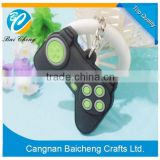 WENZHOU black rubber keychain in game machine with wholesale price