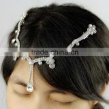 fashion wholesale crystal rhinestone silver headchain bridal hair jewelry wedding hair accessories