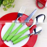 PP 410 High-grade 18/0 Mirror Polish Hotel Stainless Steel Wood Handle Flatware